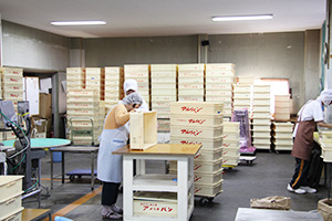 パン梱包作業